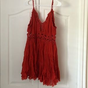 Free People Red Summer dress